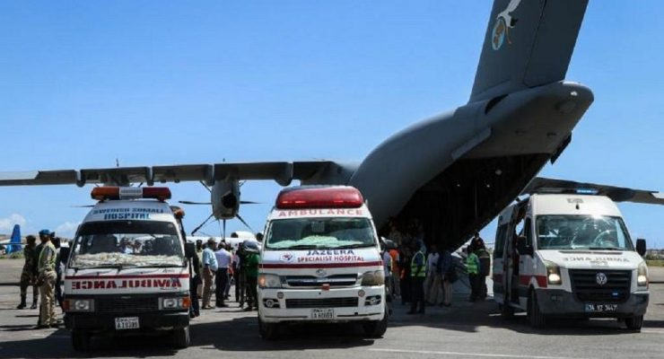 Mogadishu attack evacuation of victims